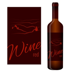 Wine label and bottle of wine vector image
