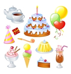Birthday Set vector image vector image