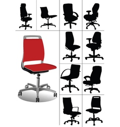 desk chair vector image