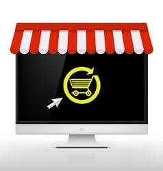 E-shop Image vector image