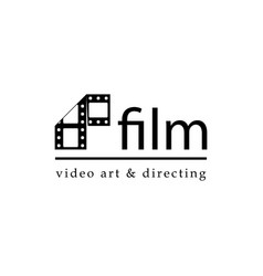 film strip simple conceptual logotype vector image
