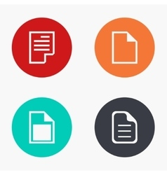modern file colorful icons set vector image
