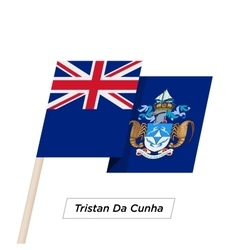Tristan Da Cunha Ribbon Waving Flag Isolated on vector image vector image