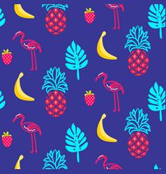flamingo blue summer seamless texture vector image vector image