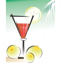 lemon and wine vector image vector image