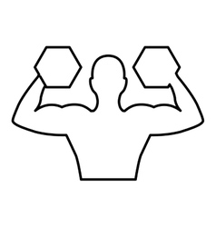 Weight lifting athlete silhouette vector
