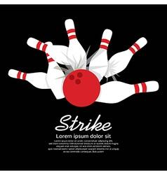 Bowling Strike vector image vector image