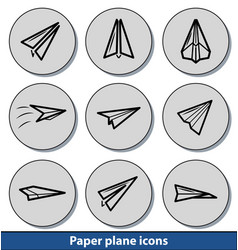light paper plane icons vector image vector image