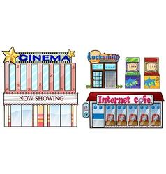 Set of shops vector image