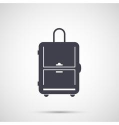 Simple design icon travel bag vector image