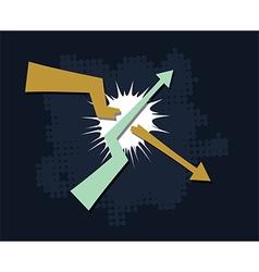 Trends break symbol vector