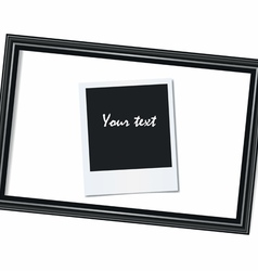 Portrait frame and photo on a white background vector image vector image