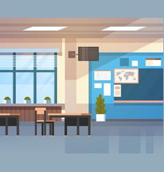 school classroom interior board desk over window vector image