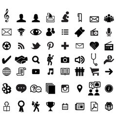 Various computer icons vector image vector image