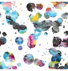Watercolor galaxy background vector image vector image