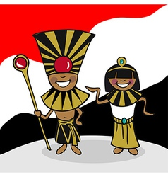 Welcome to Egypt people vector image vector image