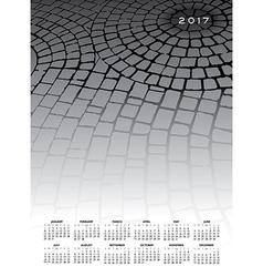A 2017 cobblestone calendar vector image