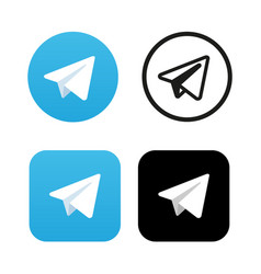 aircraft blue button icon telegram icon vector image