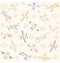 airplanes pattern color vector image