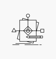 algorithm business foretelling pattern plan line vector image