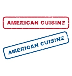 American Cuisine Rubber Stamps vector