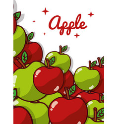 apple fruit juicy sweet poster vector image