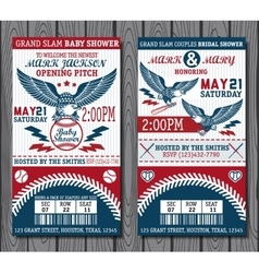 baseball tickets vector image