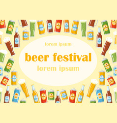 beer festival flat template vector image