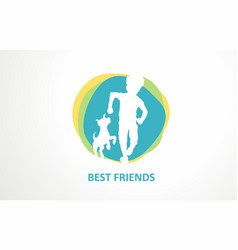 best friends design logo graphic friend vector image