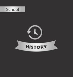 black and white style icon history lesson vector image