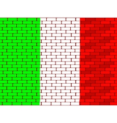 brick wall italy vector image
