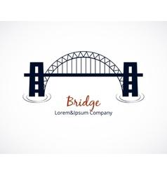Bridge Logo Graphic Design on White Background vector