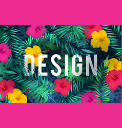 bright tropical background exotic pattern jungle vector image
