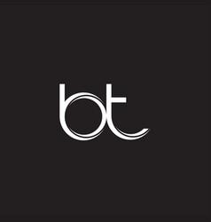Bt initial letter split lowercase logo modern vector