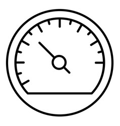 Car speedometer icon outline style vector