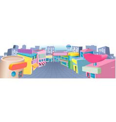 Cartoon street of shops vector