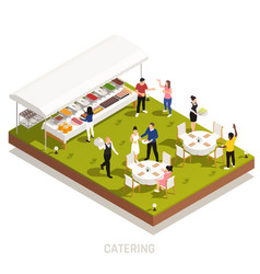 Catering service outdoor isometric vector