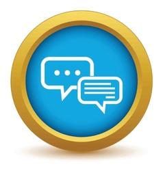 Chatting round icon vector
