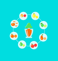 Citrus flavors on a blue background vector