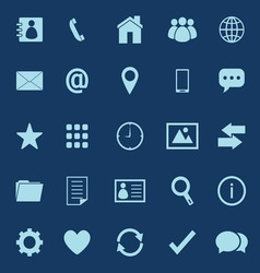 Contact color icons on blue background vector