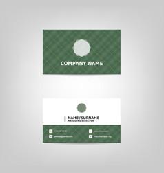 dark green business card design template vector image