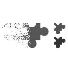 Dissolving pixel halftone plugin icon vector