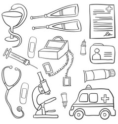 Doodle of medical object art vector