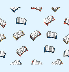 doodles book pattern background vector image