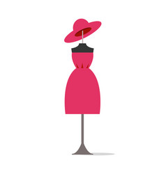 dress and hat set poster vector image