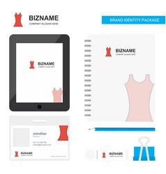 dress business logo tab app diary pvc employee vector image