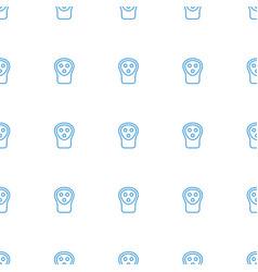Electric razor icon pattern seamless white vector