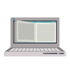 Electronic ebook icon vector