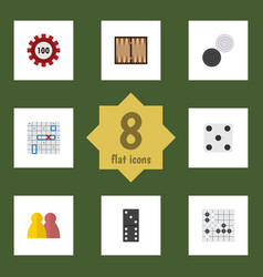 flat icon entertainment set of poker dice vector image