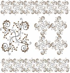 flower and floral border design vector image